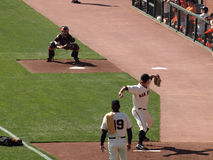 Matt Cain steps forward to throw pitch Royalty Free Stock Photo