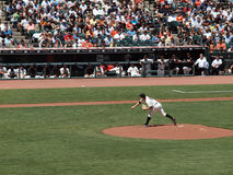 Matt Cain throws pitch Royalty Free Stock Images
