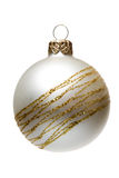 Matt Christmas tree decoration, isolated Royalty Free Stock Photos