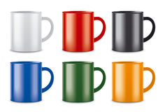 Matt colored cups Stock Image