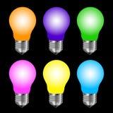 Matt colored lamp Stock Photos
