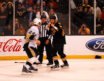 Matt Cooke and Shawn Thornton square off Stock Image