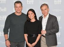 Matt Damon ` die `-van Première de omvang reduceren bij Internationaal de Filmfestival 2017 van Toronto stock fotografie
