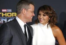 Matt Damon et Luciana Barroso Photo libre de droits