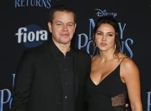 Matt Damon et Luciana Barroso photographie stock libre de droits