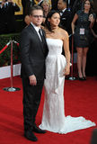 Matt Damon et Luciana Barroso photo stock