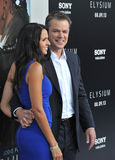 Matt Damon et Luciana Barroso photos stock