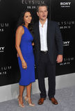 Matt Damon et Luciana Barroso images stock
