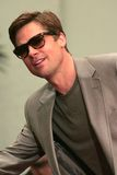 Matt Damon, George Clooney, Jerry Weintraub, Brad Pitt Arkivbild