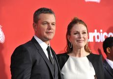Matt Damon and Julianne Moore Stock Photography