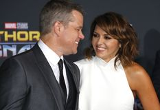 Matt Damon and Luciana Barroso Royalty Free Stock Photo
