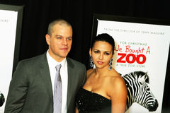 Matt Damon and Luciana Bozan Barroso Stock Photo