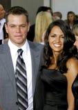 Matt Damon and Luciana Damon Royalty Free Stock Image