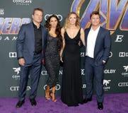 Matt Damon, Luciana Damon, Samantha Hemsworth, Luke Hemsworth imágenes de archivo libres de regalías