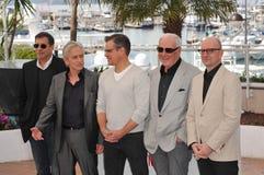 Matt Damon & Michael Douglas & Steven Soderbergh & Jerry Weintraub royalty-vrije stock fotografie