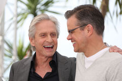 Matt Damon,Michael Douglas Stock Photography