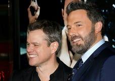 Matt Damon och Ben Affleck Arkivbilder