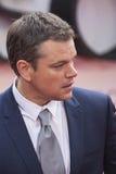 Matt Damon, premier de película de Jason Bourne 2016 Foto de archivo libre de regalías