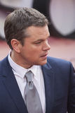 Matt Damon, prima di film di Jason Bourne 2016 Fotografia Stock Libera da Diritti