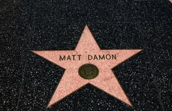 Matt Damon-` s Stern, Hollywood-Weg des Ruhmes - 11. August 2017 - Hollywood Boulevard, Los Angeles, Kalifornien, CA Stockbild