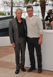Matt Damon u. Michael Douglas stockfoto