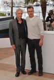 Matt Damon y Michael Douglas foto de archivo
