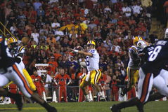 Matt Flynn. Drops back to make a pass during the Auburn VS LSU game in Baton Rouge in 2007 Royalty Free Stock Images