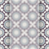 Matt glass over vintage vector pattern Stock Images