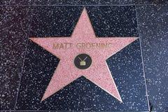 Matt Groening, twórca Simpsons, gwiazda na Hollywood Wa fotografia royalty free