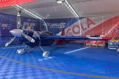 Matt Hall Edge 540 V3 airplane during Red Bull Air Race Royalty Free Stock Photo