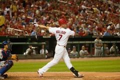 Matt Holliday powerful swing Royalty Free Stock Images