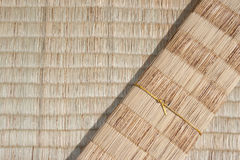 Matt infödd thai stil för bambu royaltyfri fotografi