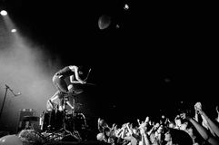 Matt and Kim (American indie rock duo from Brooklyn) performs at Apolo Stock Image