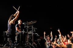 Matt and Kim (band) performs at Apolo Royalty Free Stock Photo
