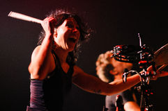 Matt and Kim band performs at Apolo Stock Images