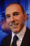 Matt Lauer Wax Figure Royaltyfri Bild