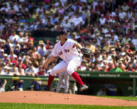 Matt milda Boston Red Sox Royaltyfri Foto