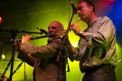 Matt Molloy met de Clew Band van de Baaipijp (2) royalty-vrije stock foto