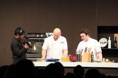 Matt Moran cooking demonstration Stock Photography