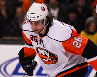 Matt Moulson, New York Islanders. New York Islanders forward Matt Moulson #26 stock image
