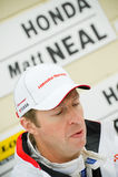 Matt Neal. THRUXTON, UNITED KINGDOM - MAY 1, 2011: Honda Racing driver Matt Neal in the pits during the British Touring Car Championship meeting at Thruxton, UK Royalty Free Stock Photo