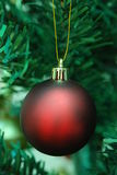 Matt red Christmas bauble Royalty Free Stock Images
