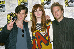 Matt Smith, Karen Gillan and Arthur Darvill Stock Photo