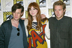 Matt Smith, Karen Gillan e Arthur Darvill Fotos de Stock Royalty Free