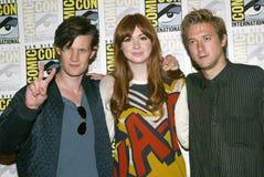 Matt Smith, Karen Gillan e Arthur Darvill Foto de Stock