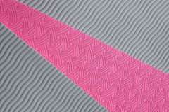 Matt textur för rosa yoga Arkivfoto
