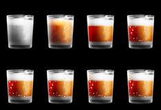 Matt-trinkende Gläser mit einer Beschaffenheit Lizenzfreies Stockbild