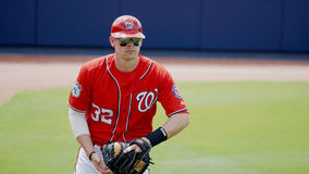 Matt Wieters Washington Nationals Catcher Royaltyfri Foto