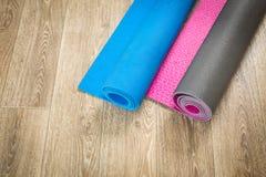 Matt yoga Royaltyfri Foto