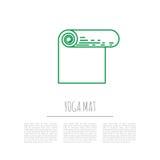 Matt yoga för sportutrustning Fotografering för Bildbyråer